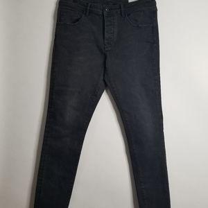 Industrie Denim The Tailor Black Slim Jeans 32X32